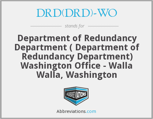 What does DRD(DRD)-WO stand for?