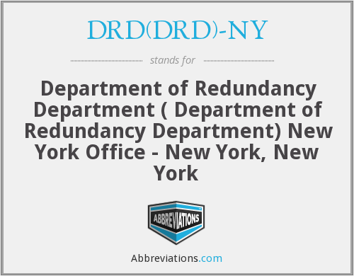 What does DRD(DRD)-NY stand for?