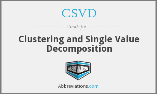 What does CSVD stand for?