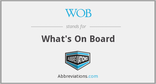 WOB - What's On Board