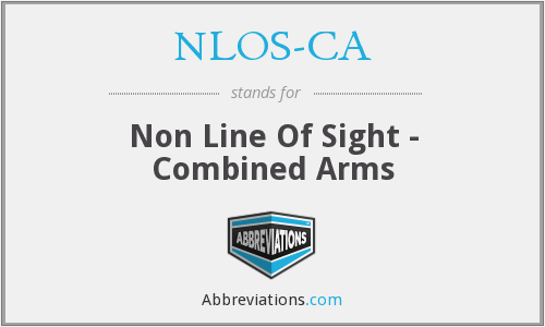 NLOS-CA - Non Line Of Sight - Combined Arms