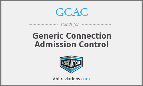 GCAC - Generic Connection Admission Control