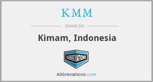 What does KMM stand for?