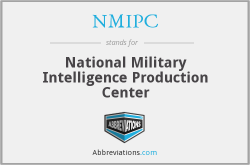 NMIPC - National Military Intelligence Production Center