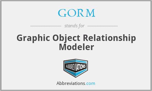GORM - Graphic Object Relationship Modeler