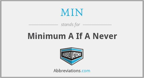 MIN - Minimum A If A Never