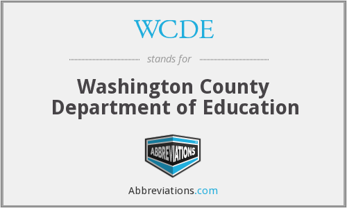 WCDE - Washington County Department of Education