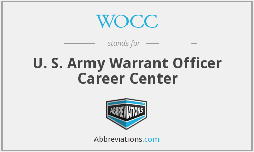 WOCC - U. S. Army Warrant Officer Career Center