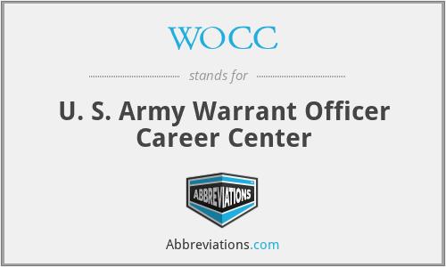 WOCC - U. S. Army Warrant Officer Career Center