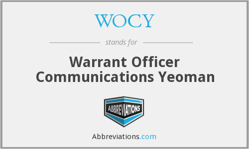 WOCY - Warrant Officer Communications Yeoman