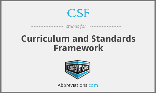 CSF - Curriculum and Standards Framework