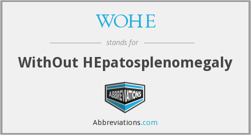 What does WOHE stand for?