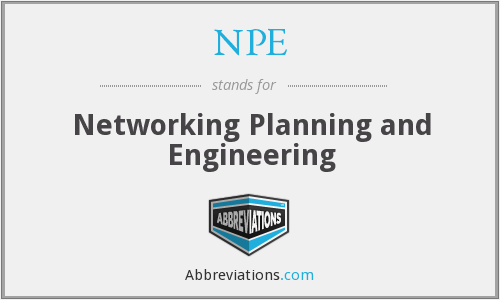 NPE - Networking Planning and Engineering