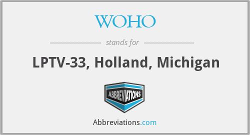 WOHO - LPTV-33, Holland, Michigan