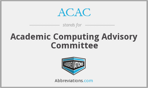 ACAC - Academic Computing Advisory Committee