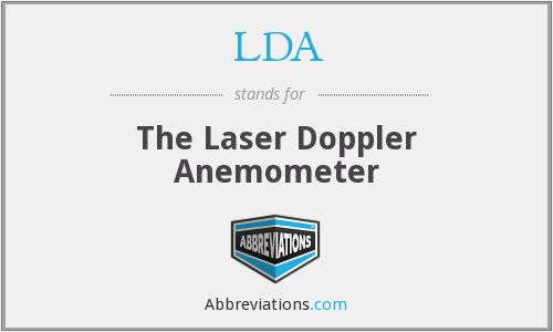 LDA - The Laser Doppler Anemometer