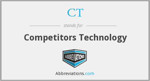 What does competitors stand for?