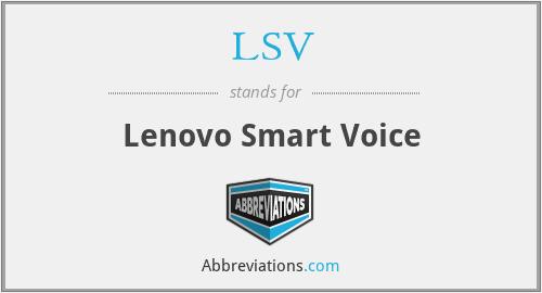 LSV - Lenovo Smart Voice