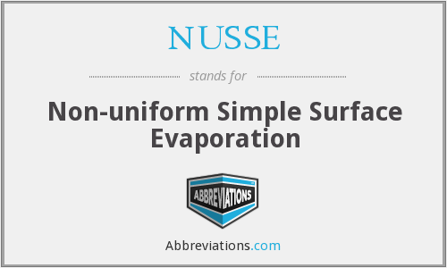 NUSSE - Non-uniform Simple Surface Evaporation