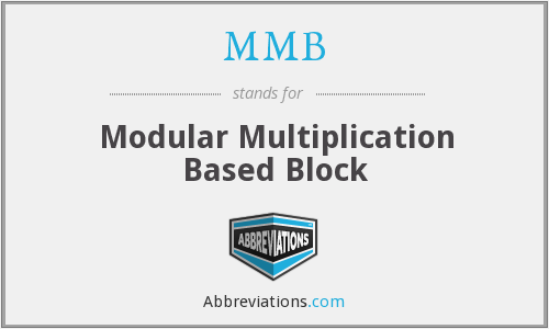 MMB - Modular Multiplication Based Block