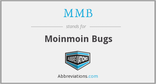MMB - Moinmoin Bugs