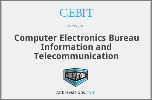 What does CEBIT stand for?