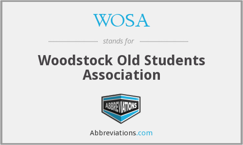 WOSA - Woodstock Old Students Association