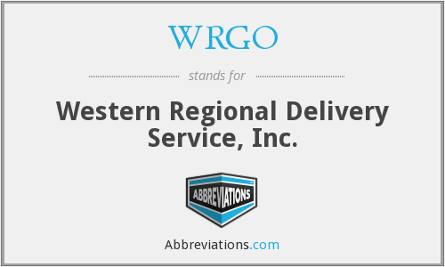 WRGO - Western Regional Delivery Service, Inc.