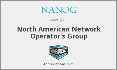 What does NANOG stand for?