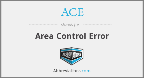 ACE - Area Control Error