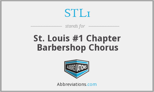 STL1 - St. Louis #1 Chapter Barbershop Chorus