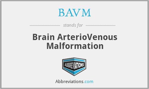 BAVM - Brain ArterioVenous Malformation