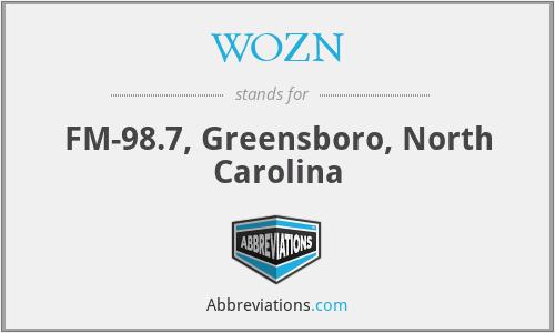 WOZN - FM-98.7, Greensboro, North Carolina