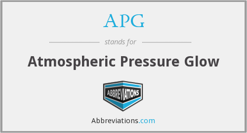 APG - Atmospheric Pressure Glow