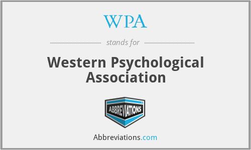 WPA - Western Psychological Association
