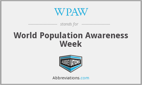 WPAW - World Population Awareness Week