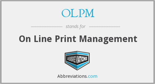 OLPM - On Line Print Management