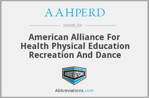 AAHPERD - American Alliance For Health Physical Education Recreation And Dance