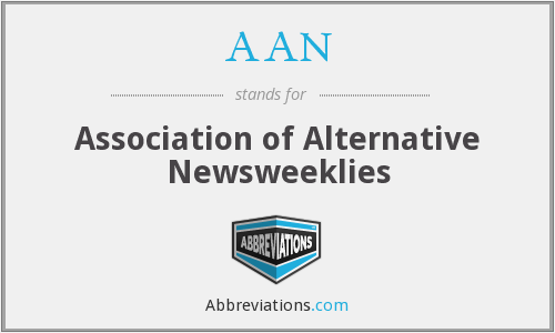 AAN - Association of Alternative Newsweeklies