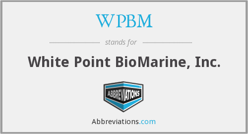 What does WPBM stand for?