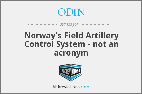 ODIN - Norway's Field Artillery Control System - not an acronym