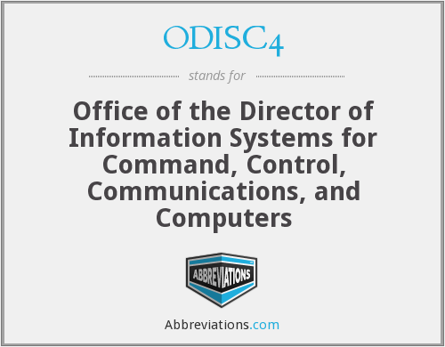 ODISC4 - Office of the Director of Information Systems for Command, Control, Communications, and Computers