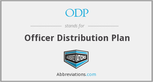 ODP - Officer Distribution Plan