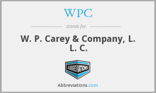 WPC - W. P. Carey & Company, L. L. C.
