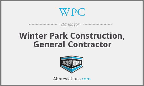 WPC - Winter Park Construction, General Contractor