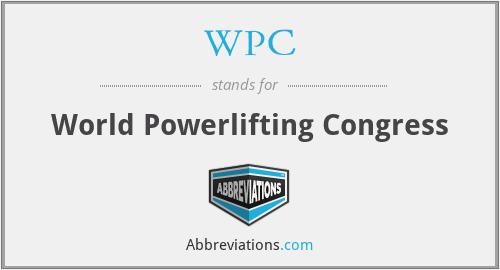 WPC - World Powerlifting Congress