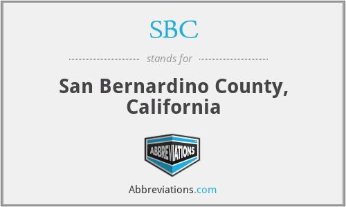 SBC - San Bernardino County, California