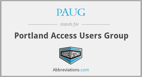 PAUG - Portland Access Users Group