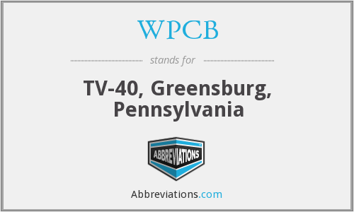 WPCB - TV-40, Greensburg, Pennsylvania