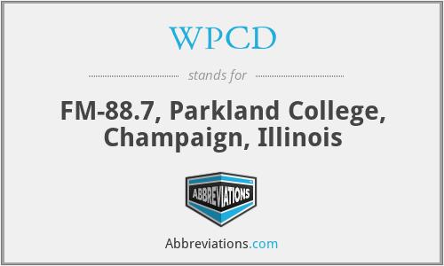 WPCD - FM-88.7, Parkland College, Champaign, Illinois